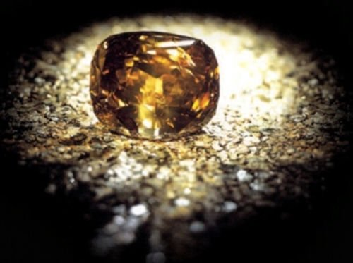 Golden Jubilee Diamond - A Diamond in the Rough   Naturally Colored