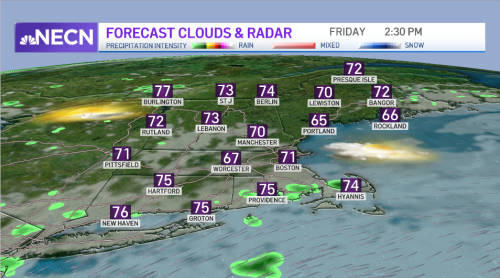 Spot Showers Friday Into Saturday as Cold Front Approaches