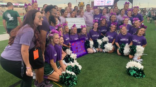 Homecoming Tribute to Cheerleader Hurt in Tumbling Accident