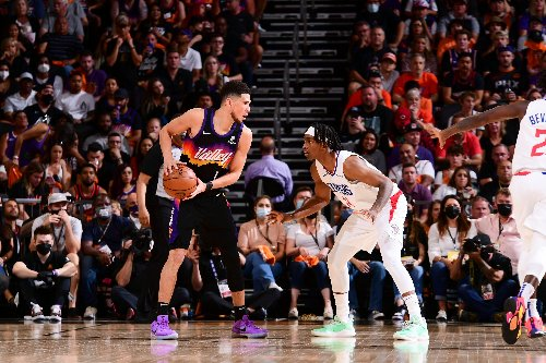 Devin Booker's First Career Triple-Double Lifts Suns Over Clippers 120-114 in Game 1