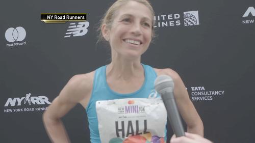 Sara Hall Wins New York Mini 10K in Central Park