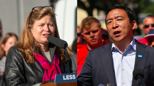 Yang and Garcia Team Up on Campaign Trail Days Before NYC Election