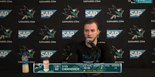 Chekhovich talks about his first couple NHL games & scoring his first point