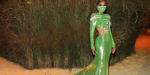 Ciara slays at Met Gala in Russell Wilson Seahawks jersey inspired dress
