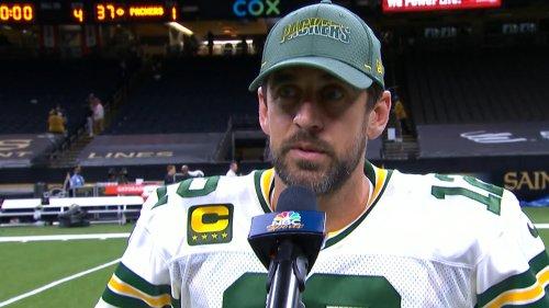 Aaron Rodgers talks Packers' Sunday Night Football win vs. Saints