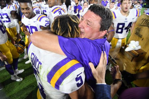 LSU's Ed Orgeron gives lawmakers statement on Guice complaint