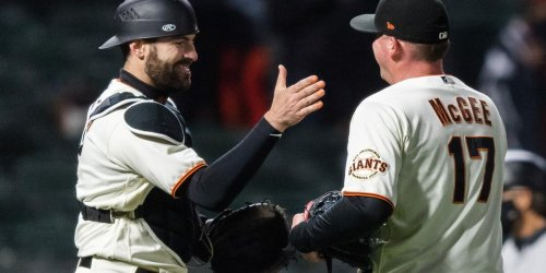 Casali's historic run continues as Giants blank Marlins
