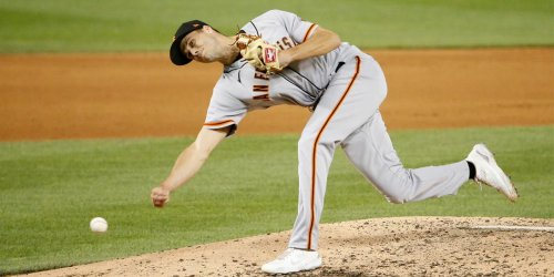 Giants reliever Rogers' 'stupid' rising slider goes viral
