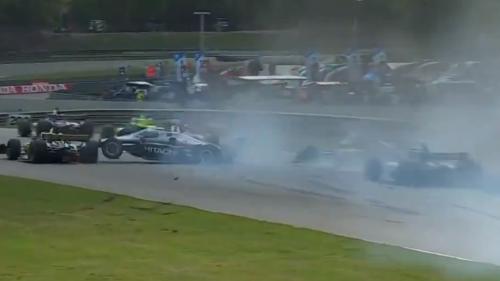 First-lap crash in IndyCar opener eliminates multiple contenders at Barber