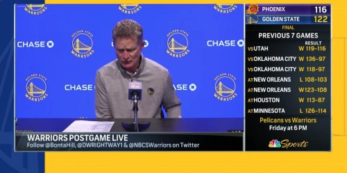 Steve Kerr knows Warriors were 'fantastic' in wins over Jazz, Suns