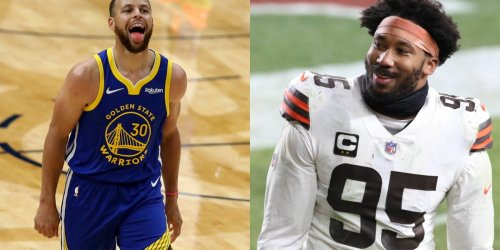 Browns star Garrett does Steph shimmy during workout video