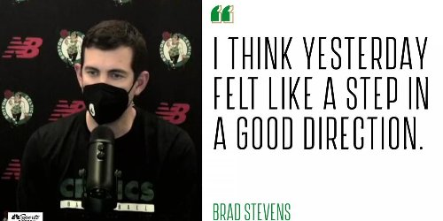 Brad Stevens 'proud to be part of a group' trying to create change