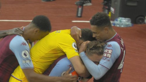 Matty Cash blasts Aston Villa into the lead v. Everton