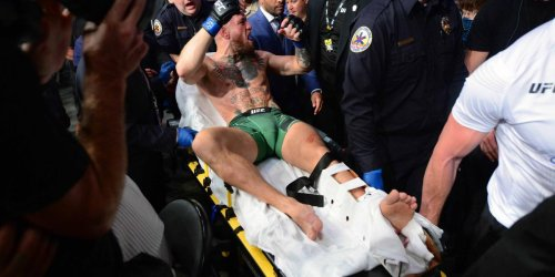 McGregor suffers freak leg fracture in loss to Poirier at UFC 264