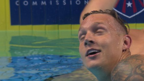 Olympic Swimming Trials: Dressel nearly breaks own WR during 100m fly
