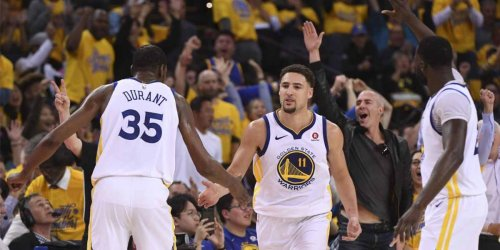 KD's funny one-word comment on Klay's workout post at Chase