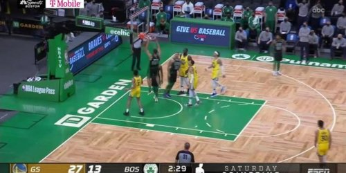 Jabari Parker with the putback dunk for first points with Celtics