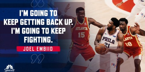 Embiid's blocking out the pain and noise in series vs. Hawks