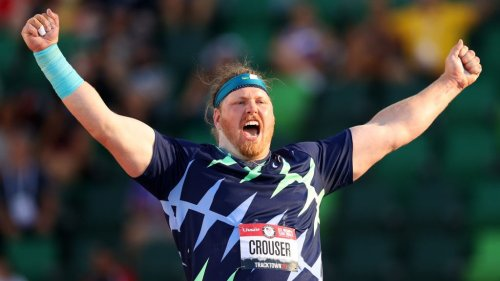 Ryan Crouser smashes 31-year shot put world record in the first Olympic Trials final