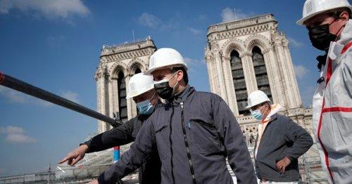 Macron visits Notre Dame 2 years after devastating fire