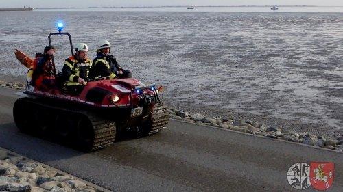 Feuerwehr rettet Frau aus Watt vor Büsum