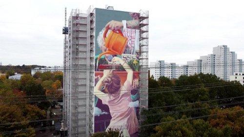 Osdorf: Neues 42 Meter hohes Kunstwerk eingeweiht