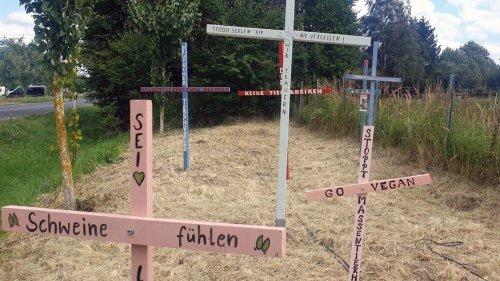 Alt Tellin: Gedenkstätte für verbrannte Schweine