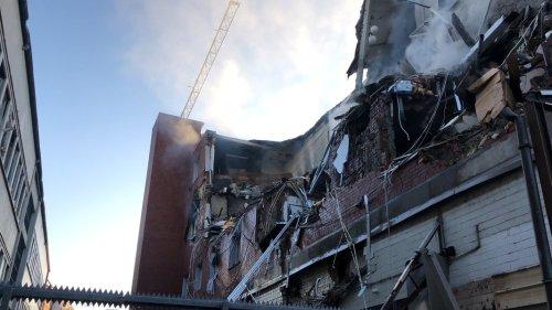 Haus in Barmbek bei Explosion zerstört