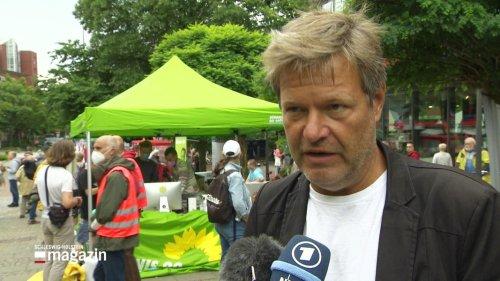 Robert Habeck startet Bundestagswahlkampf der Grünen in Kiel
