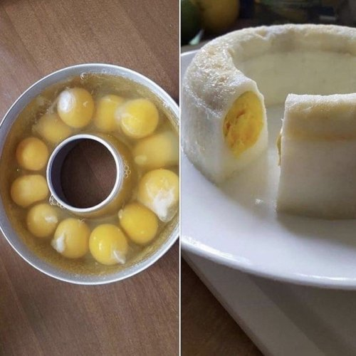 Cooking Eggs in a Bundt Pan