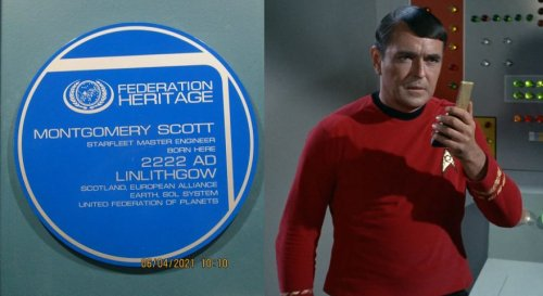 The Heritage Plaque That Marks the Birthplace of Scotty