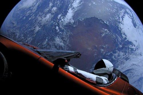In Space: Tesla Roadster Passes Mars