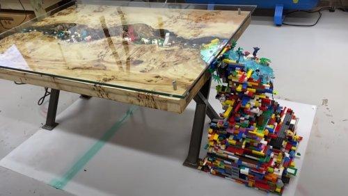 10,000-Piece LEGO Waterfall Table Stimulates the Imagination - Nerdist
