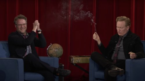 Watch Conan O'Brien Smoke a Joint with Seth Rogen - Nerdist