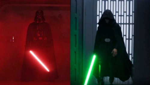 """Luke Skywalker and His Father Fight to """"Holding Out for a Hero"""" - Nerdist"""