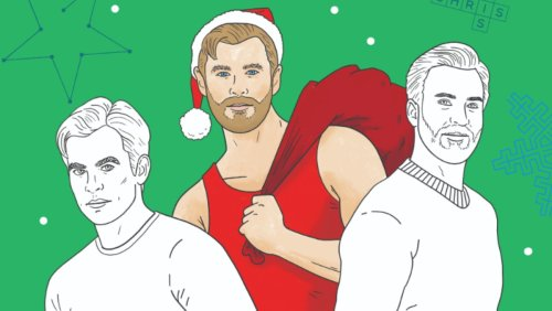 Bring a Hollywood Chris Home for the Holidays in New Coloring Book - Nerdist
