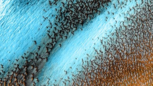NASA Releases Mesmerizing Image of Blue Dunes on Mars - Nerdist