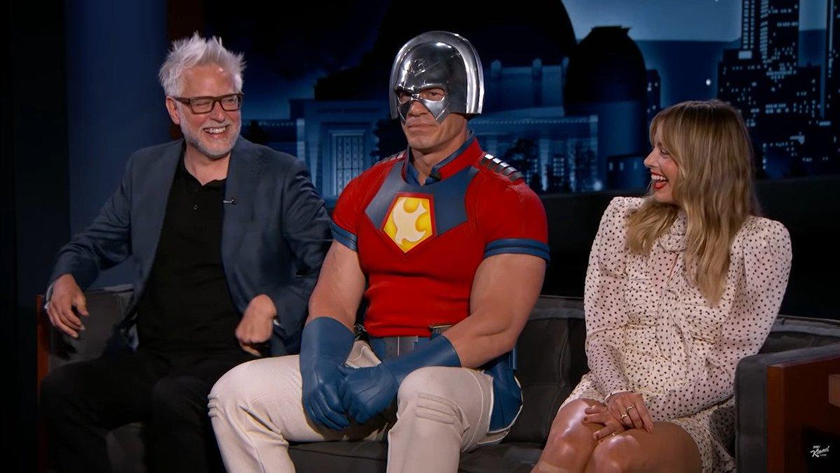 THE SUICIDE SQUAD's John Cena Wears Peacemaker Costume to Promote Film - Nerdist