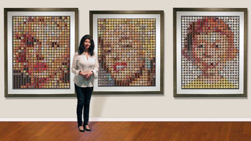 This Artist Creates Huge Celebrity Portraits Using Only Donuts - Nerdist