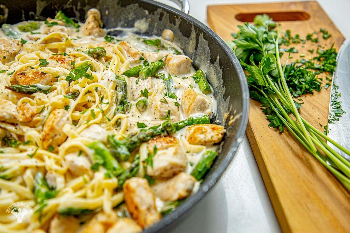 Healthy Cauliflower Chicken Alfredo Recipe - Fit Men Cook
