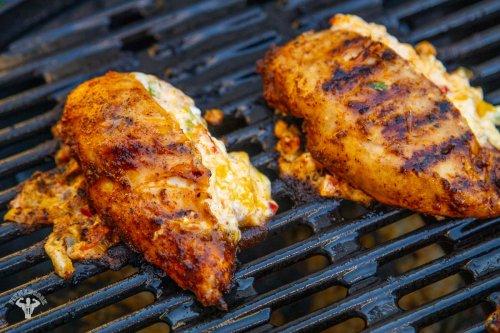 Grilled Fajita Stuffed Chicken Recipe - Fit Men Cook