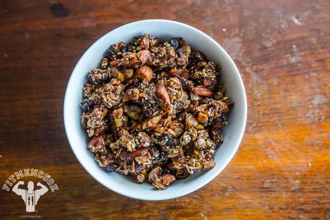 Hi-Energy, Homemade Quinoa Granola Recipe - Fit Men Cook