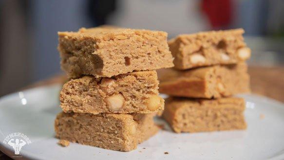 Easy Chickpea Blondies With Macadamia Recipe - Fit Men Cook