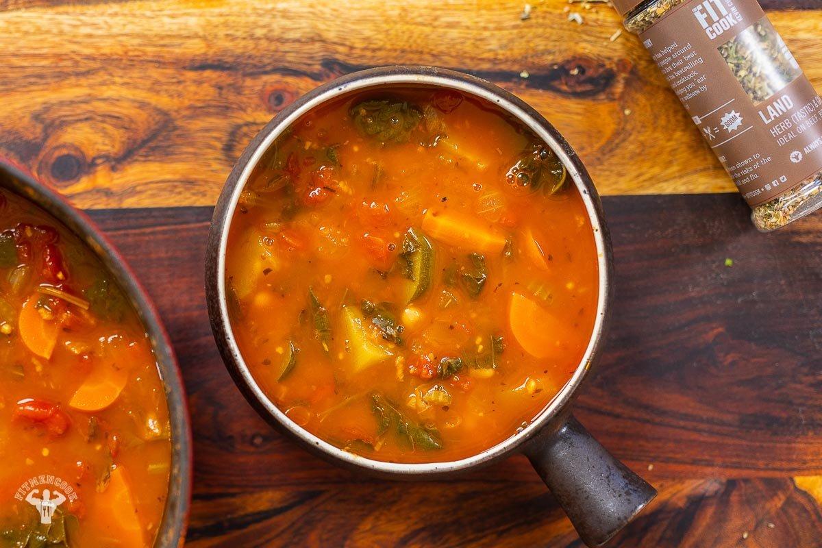 Healthy Vegan Tuscan Soup Recipe - Fit Men Cook