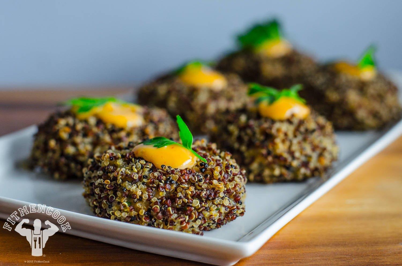 Quinoa Crusted Shrimp Cakes Recipe - Fit Men Cook