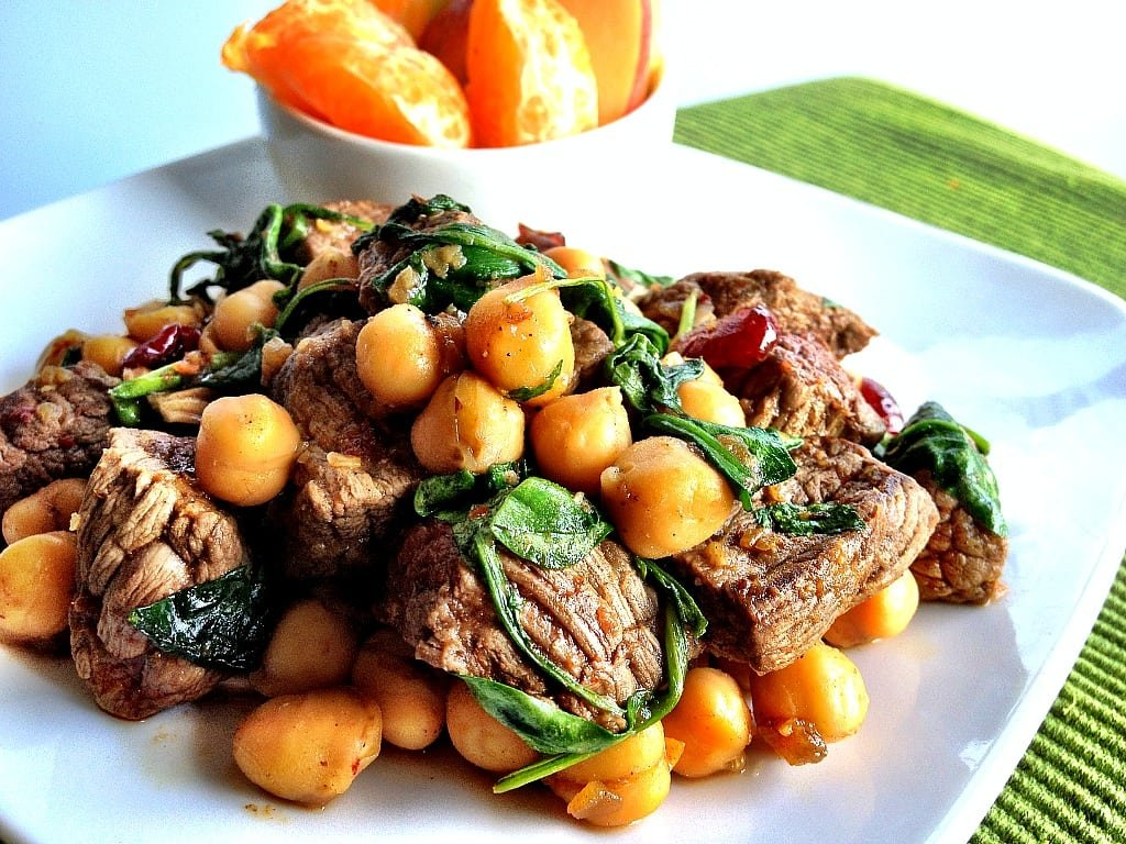 Sweet & Spicy Steak And Chickpea Salad Recipe - Fit Men Cook