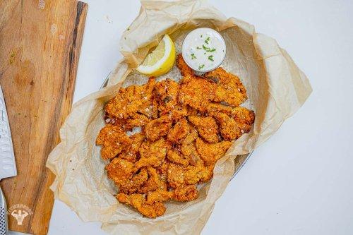 Vegan Air-Fried Oysters Recipe - Fit Men Cook