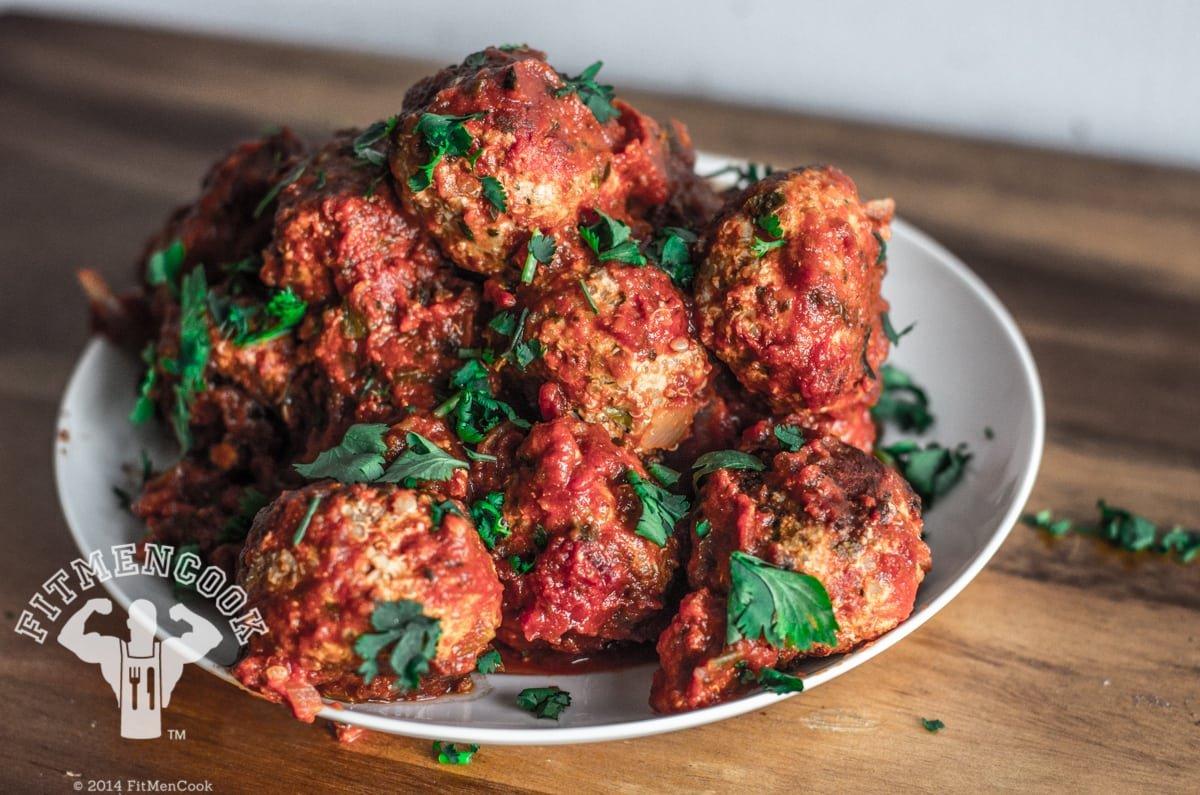 Italian Turkey Quinoa Meatballs Recipe - Fit Men Cook