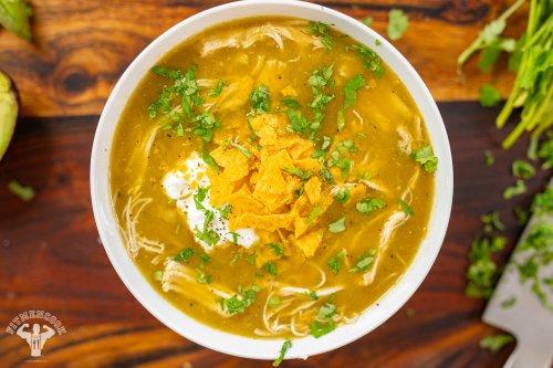 Green Chile Chicken Tortilla Soup Recipe - Fit Men Cook