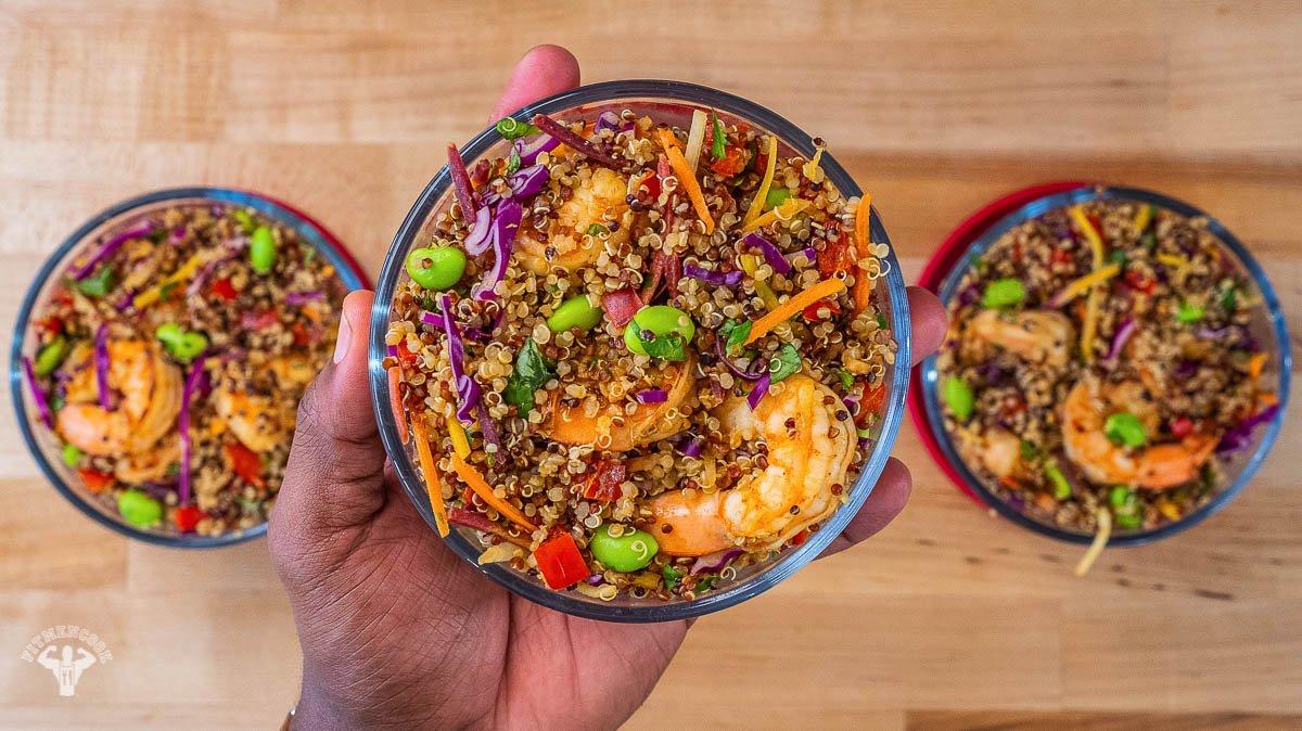Healthy Asian Shrimp And Quinoa Recipe - Fit Men Cook